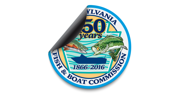 150th anniversary pa fish and boat commission logo 5 5 for Pa fish and boat