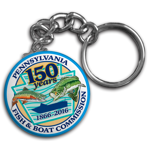 "150th Anniversary 1.75"" Round Button Key chain"