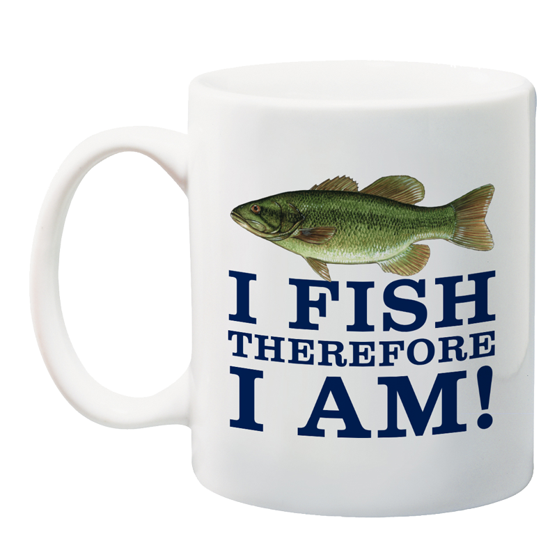 I fish therefore i am pa fish and boat 150th anniversary mug for What kind of fish am i