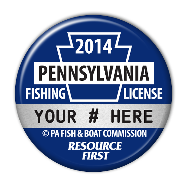 2014 Blue Fishing License Button