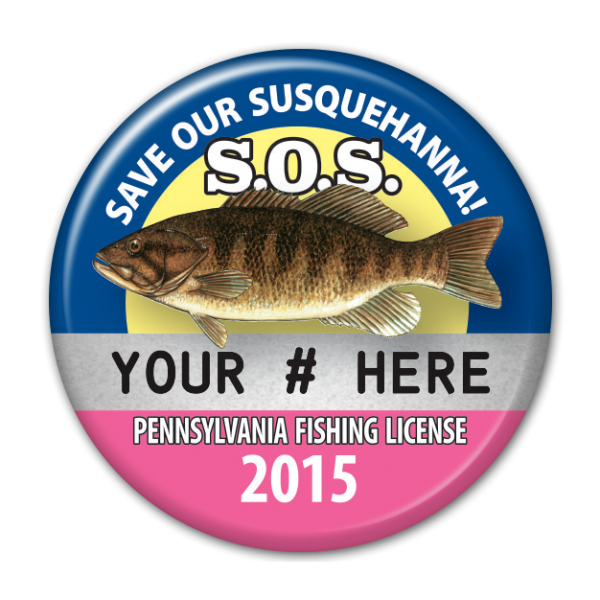 2015 S.O.S. Fishing License Button