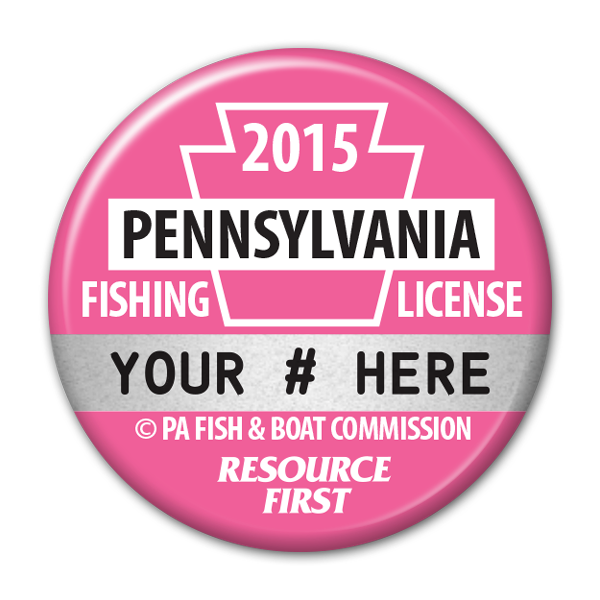 2015 Pink Fishing License Button
