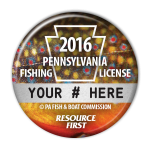 2016 Brook Trout Fishing License Button