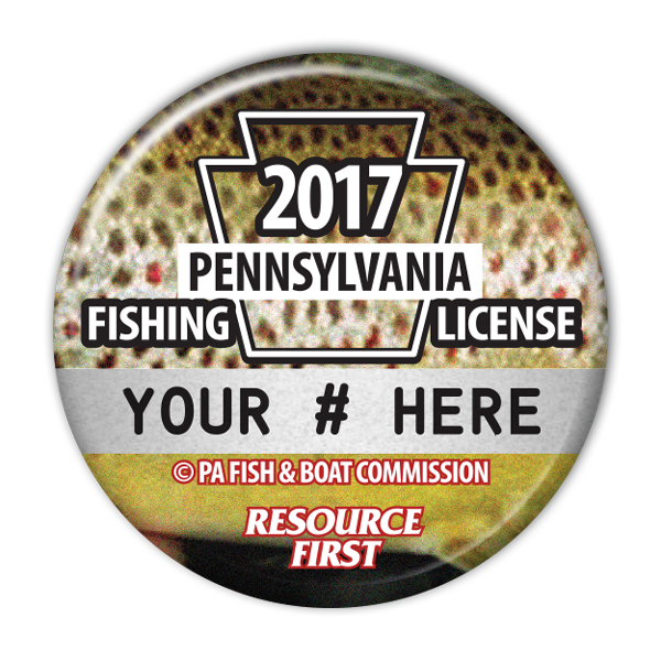 2017 Brown Trout Fishing License Button