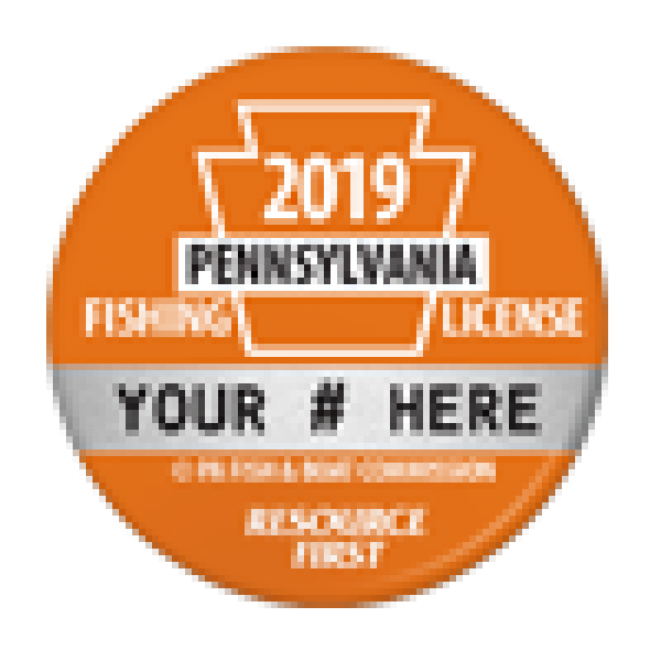 2019 PA Fishing License Button