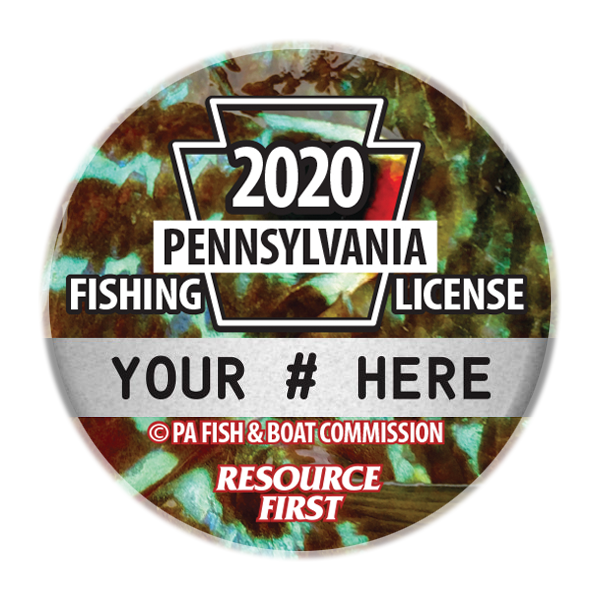 2020 PA Fishing License Button