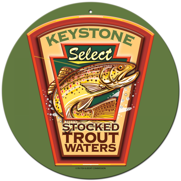 "Keystone 11.75"" Round Aluminum Collector Sign"