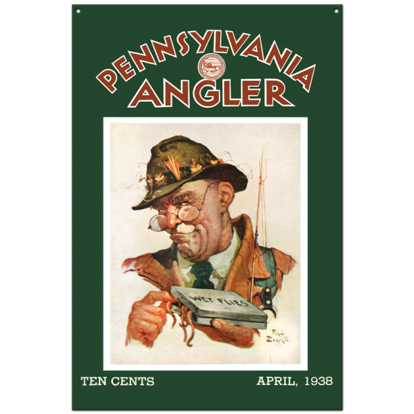 Collector Angler Magazine Sign - April 1938