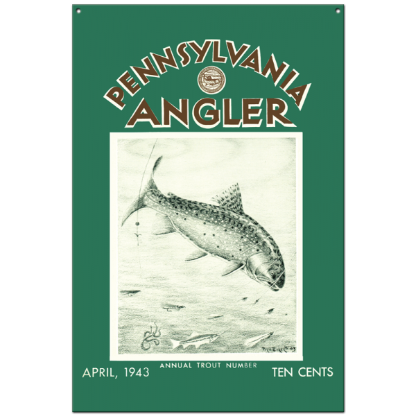 Collector Angler Magazine Sign - April 1943