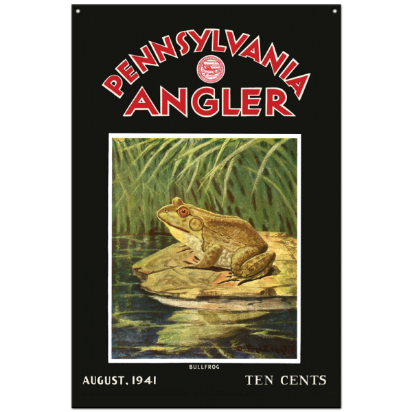 Collector Angler Magazine Sign - August 1941