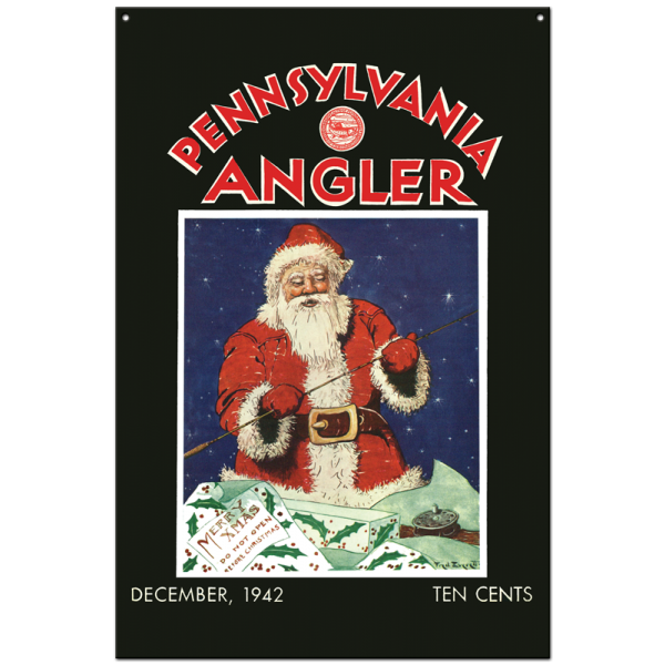 Collector Angler Magazine Sign - December 1942