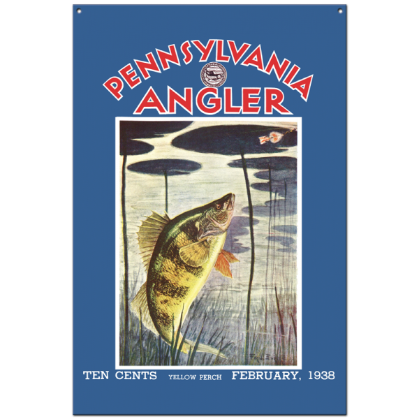 Collector Angler Magazine Sign - February 1938