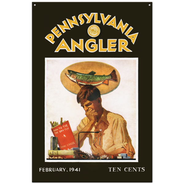 Collector Angler Magazine Sign - February 1941