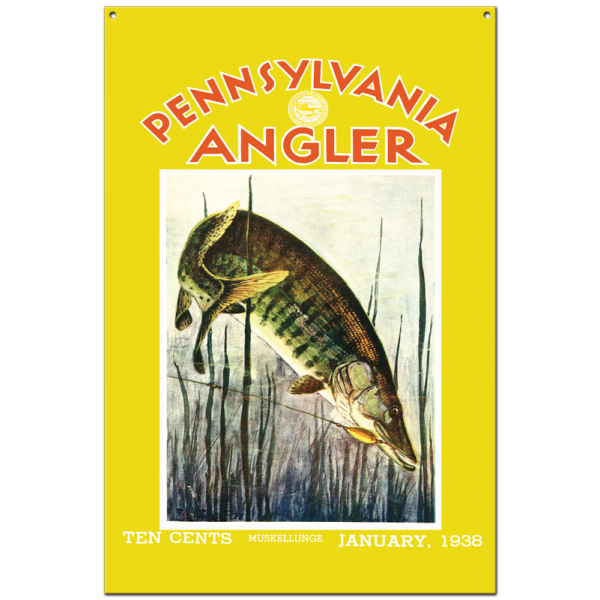 Collector Angler Magazine Sign - January 1938