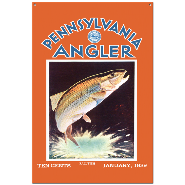 Collector Angler Magazine Sign - January 1939