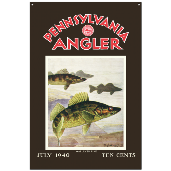 Collector Angler Magazine Sign - July 1940