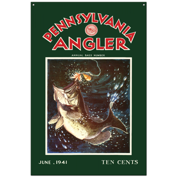 Collector Angler Magazine Sign - June 1941