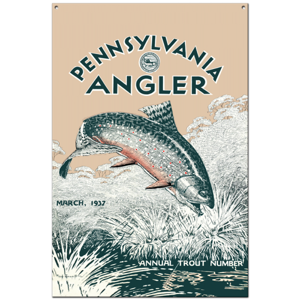 Collector Angler Magazine Sign - March 1937