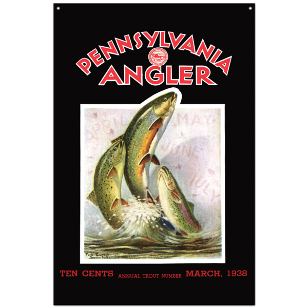 Collector Angler Magazine Sign - March 1938