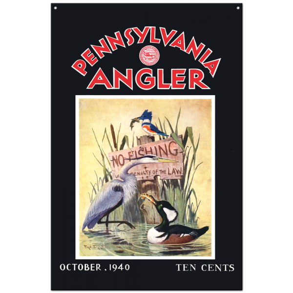 Collector Angler Magazine Sign - October 1940