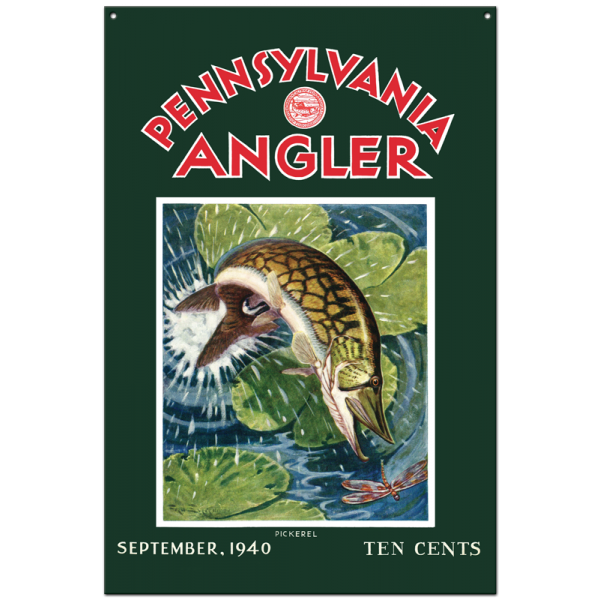 Collector Angler Magazine Sign - September 1940