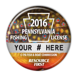 Fishing license buttons official pennsylvania vintage for How much is a fishing license in pa